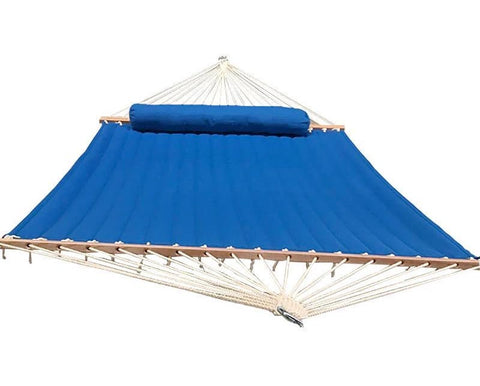 Olefin Fabric 2 Person Quilted Hammock with Matching Pillow