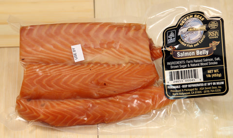 Salmon Belly Cold Smoked 16 oz