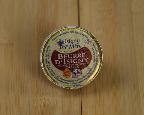Unsalted Butter in cheese assortment. Beurre d'Isigni. 1oz