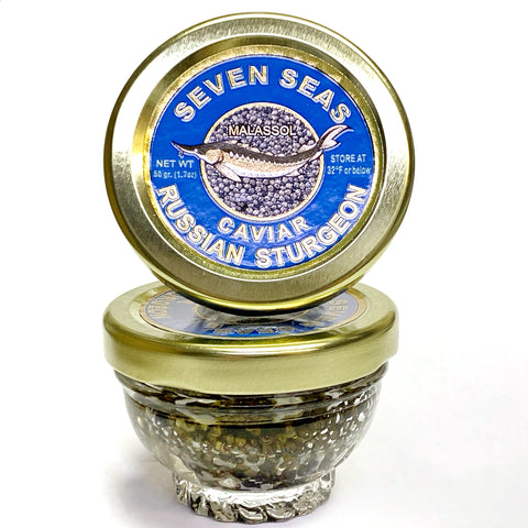 Russian Sturgeon Caviar 50 grams (1.7 oz) FREE SHIPPING