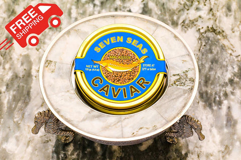 Russian Sturgeon Caviar 125 grams (4.4 oz)   FREE SHIPPING