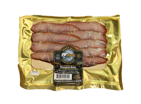 Cold Smoked Sliced  Sturgeon 4 oz