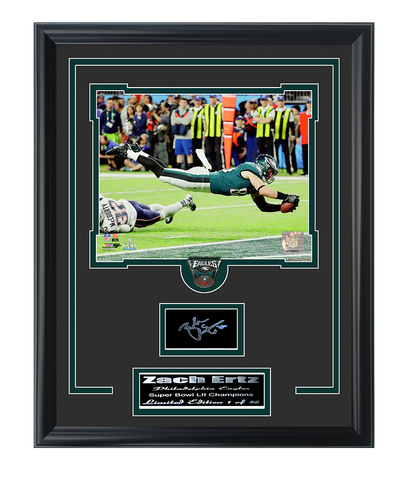 Eagles- Zach Ertz Game Winning Touchdown Engraved Signature Collage.