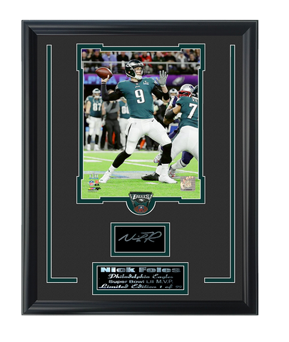 Eagles Nick Foles Super Bowl 52 MVP Engraved Signature Collage