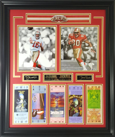 49ers- Joe Montana & Jerry Rice 5-Time Super Bowl Champions