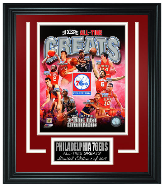 Philadelphia 76ers- All-Time Greats Limited Edition Frame.