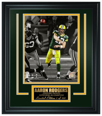 Green Bay Packers - Aaron Rodgers Framed Lt.Edition FTSNE243 - National Memorabilia