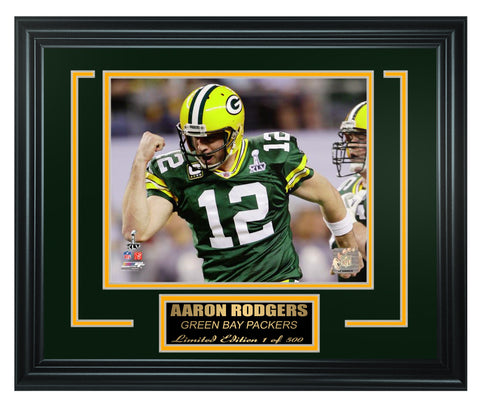 Green Bay Packers - Aaron Rodgers Framed Lt.Edition FTSNE250 - National Memorabilia