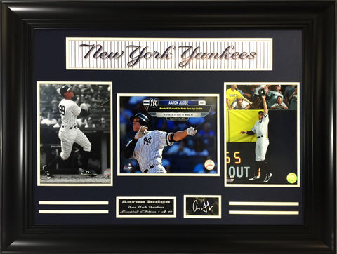 MLB- Aaron Judge Yankees Slugger 3-photo Collage