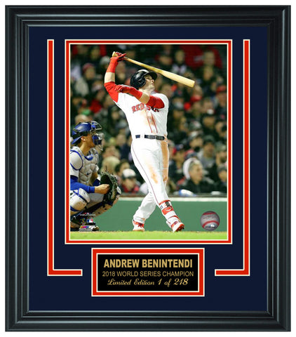 Andrew Benintendi  - Red Sox 2018 World Series ChampionLt.Edition Frame