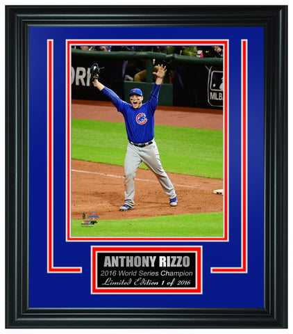 Chicago Cubs -Anthony Rizzo 2016 World Series Champion Framed Lt.Edition FTSTN068 - National Memorabilia