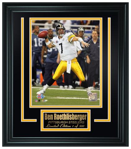 Pittsburgh Steelers - Ben Roethlisberger Framed Lt.Edition FTSGU207