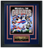 Buffalo Bills All-Time Greats Limited Edition Frame. FTSQA220 - National Memorabilia