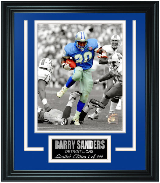 Detroit Lions Barry Sanders Limited Edition Frame. FTSLV211