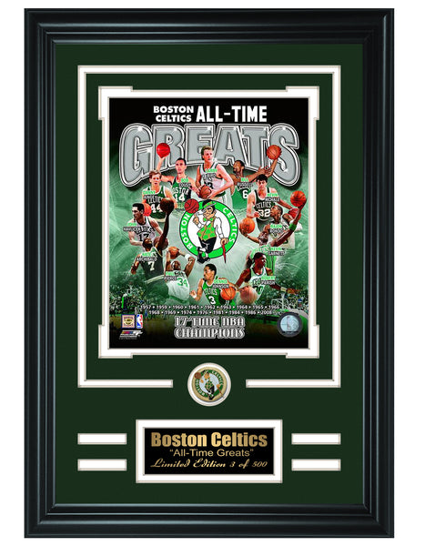 NBA Boston Celtics -All-Time Greats Limited Edition Collage