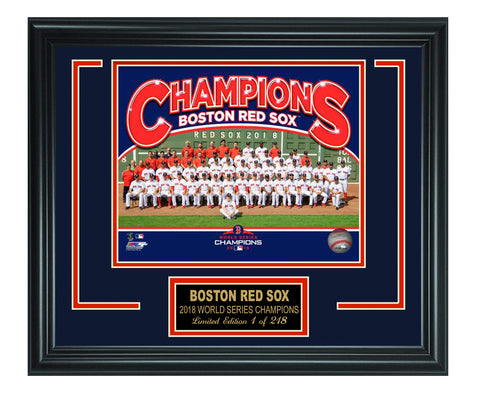 Boston Red Sox - 2018 World Series Champion Composite Sit Down Lt.Edition Frame.
