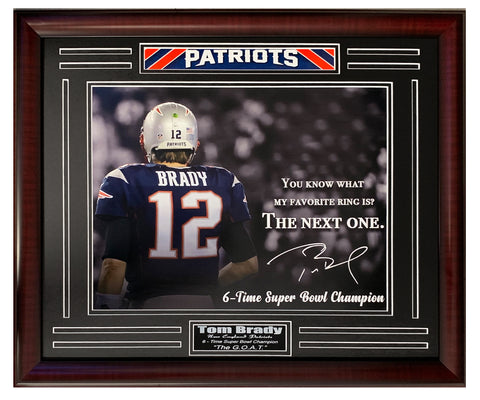 New England Patriots Tom Brady 6-Time Super Bowl Champion