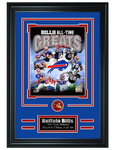 Buffalo Bills- All Time Greats Limited Edition Collage - National Memorabilia