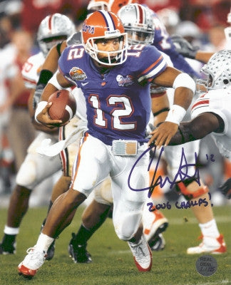 "Chris Leak Signed - Autographed Florida Gators 16x20 National Championship Game Photo with ""2006 CHAMPS"" inscription - NMSC"