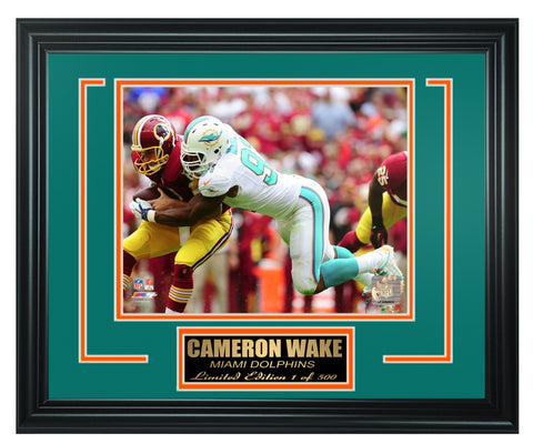 Miami Dolphins Cameron Wake Limited Edition Frame. FTSSG186