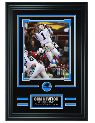 Carolina Panthers-Cam Newton Autographed Framed 8x10 Photo #2 - National Memorabilia