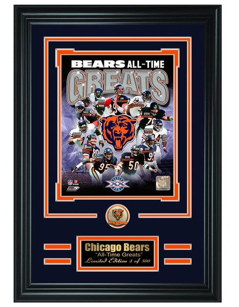 Chicago Bears -All-Time Greats Limited Edition Collage