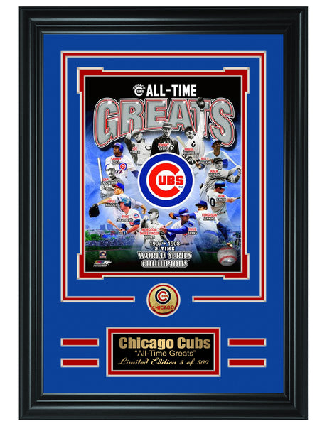 MLB Chicago Cubs -All-Time Greats Limited Edition Collage