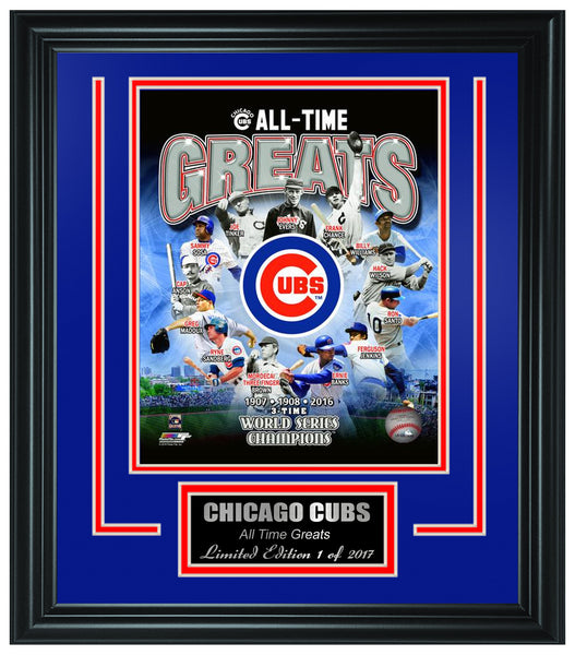 "MLB Chicago Cubs ""All-Time Greats"" Framed Lt.Edition FTSTO019"