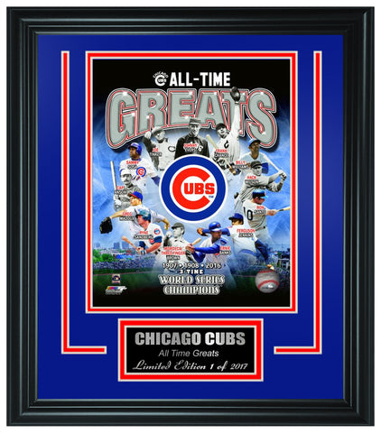 "Chicago Cubs ""All-Time Greats"" Framed Lt.Edition FTSTO019 - National Memorabilia"