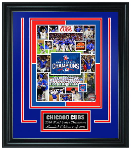 Chicago Cubs -2016 World Series Champions Framed Lt.Edition FTSTN226