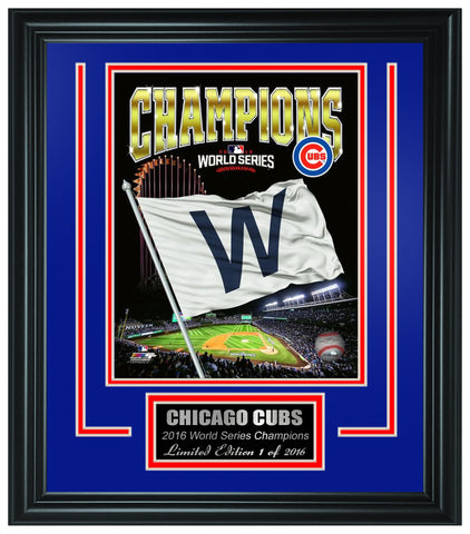 Chicago Cubs -2016 World Series Champions Framed Lt.Edition FTSTO071 - National Memorabilia