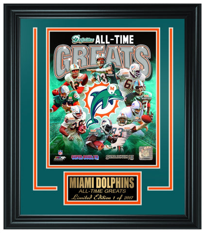 Miami Dolphins All-Time Greats Limited Edition Frame FTSOO156