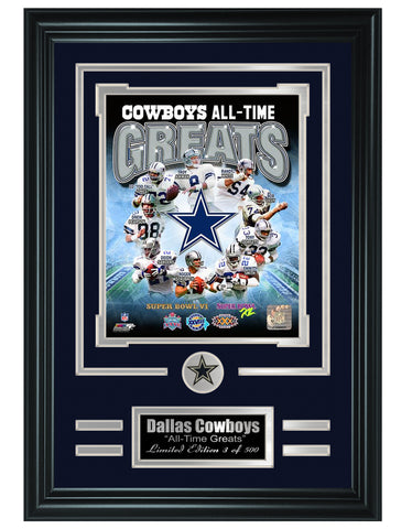 Dallas Cowboys - All-Time Greats Limited Edition Collage - National Memorabilia
