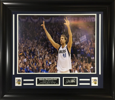 NBA Dirk Nowitzski Dallas Mavericks NBA Champion Collage