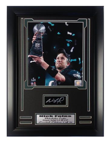 Eagles- Nick Foles Super Bowl MVP Limited Edition Engraved Signature Collage.