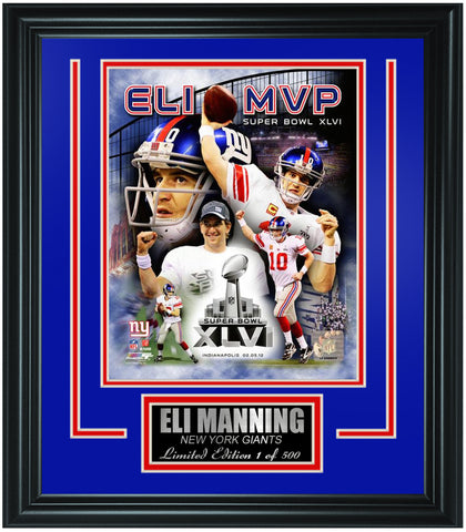 New York Giants Eli Manning Limited Edition Frame. FTSON049