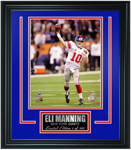 New York Giants Eli Manning Limited Edition Frame. FTSON001