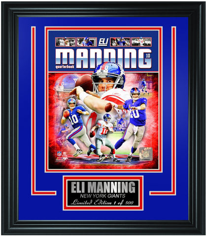 New York Giants Eli Manning Limited Edition Frame. FTSOO170