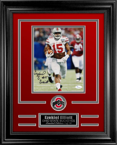 Ezekiel Elliott Autograhed Photo Framed