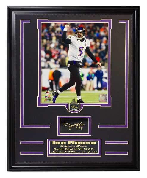 Ravens-Joe Flacco Engraved Signature Collage.