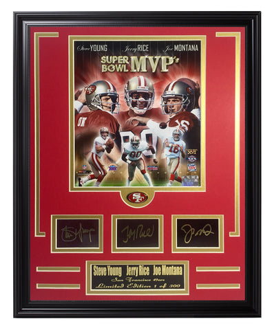 N.F.L. Engraved Signature Frame-San Francisco 49ers-Super Bowl MVP's