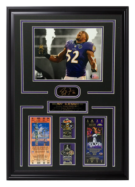 Ravens-Ray Lewis Super Bowl Limited Edition Collage