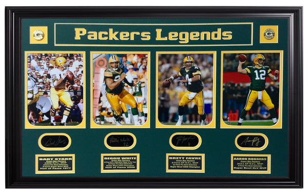 Packers-Starr,White,Favre and Rodgers 4-Photo Legends
