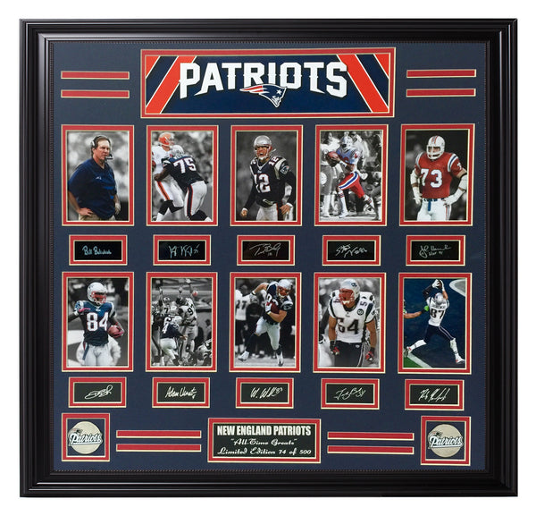 Patriots-All-Time Greats 10-Photo Collage