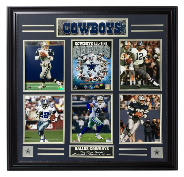 Cowboys-All-Time Greats 6-Photo Frame