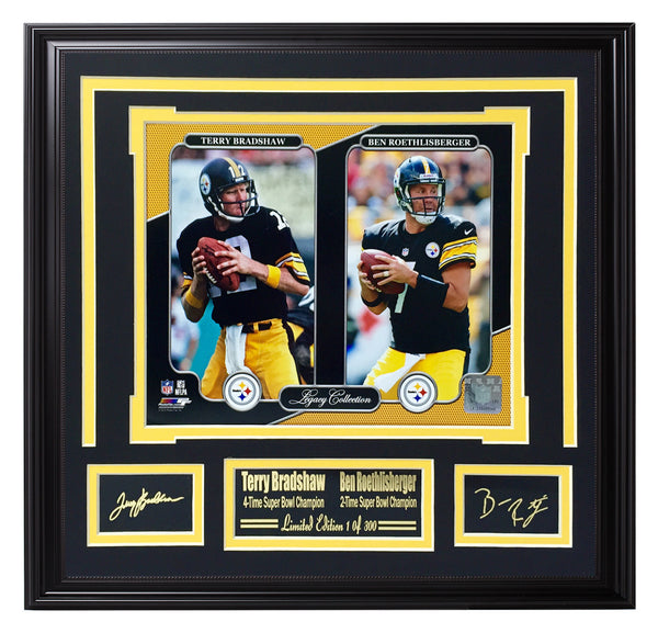 Steelers-Bradshaw & Roethlisberger Steeler Legends
