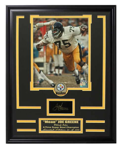 "Steelers-""Mean"" Joe Greene Engraved Signature Collage"