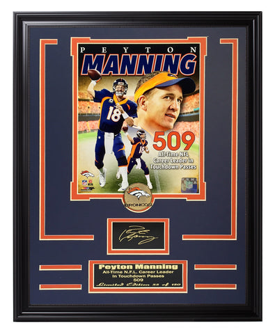 Broncos-Peyton Manning Engraved Signature Collage - National Memorabilia