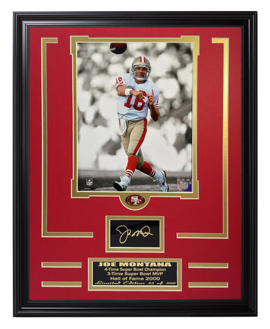 49ers-Joe Montana Engraved Signature Collage - National Memorabilia