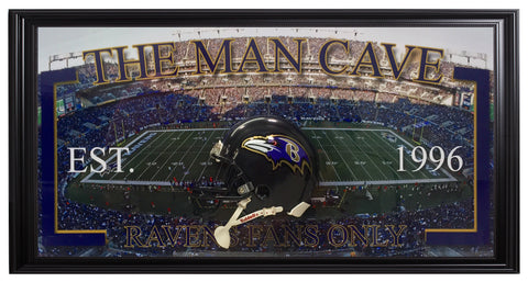 Baltimore Ravens-Man Cave Frame - National Memorabilia